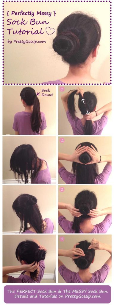 coiffure donut cheveux mi long
