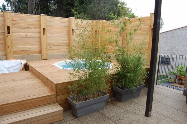 spa de jardin en bois