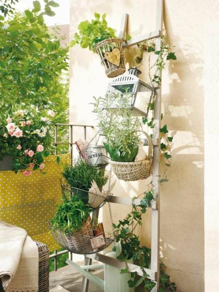 pot de fleurs en palette