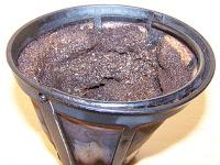 marc de café dans l'evier
